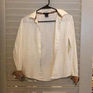 Girl's Burberry button down